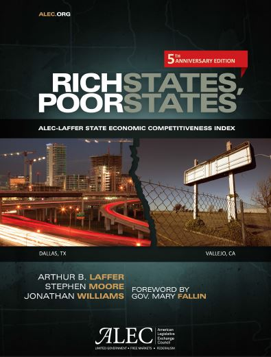 Publication cover for Rich States, Poor States, 5th Edition