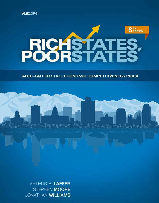 Publication cover for Rich States, Poor States, 8th Edition
