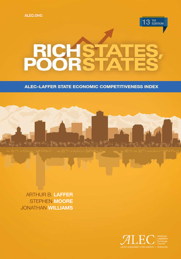 Publication cover for Rich States, Poor States 13th Edition